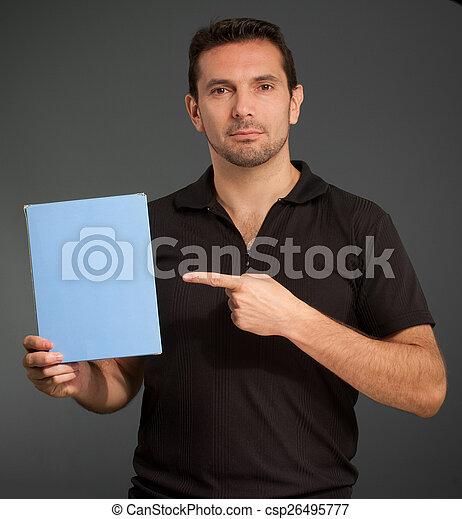 Man showing a box - csp26495777