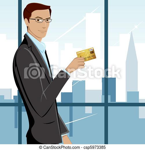 Man showing Credit Card - csp5973385
