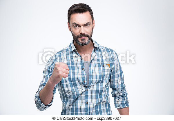Man showing fist - csp33987627