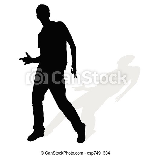 man silhouette posing - csp7491334