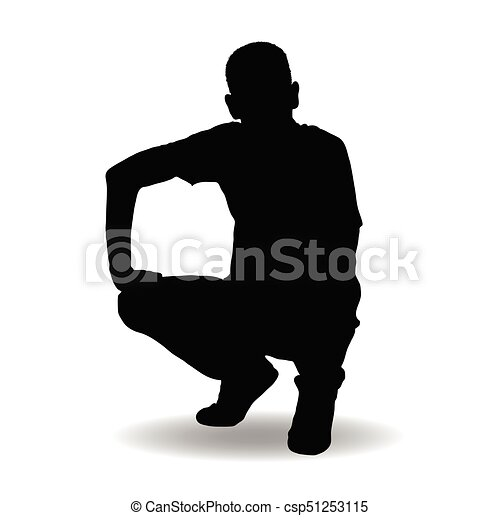 man silhouette posing illustration - csp51253115