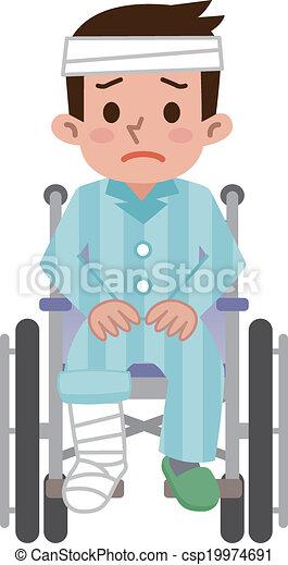 Man sitting in a wheelchair - csp19974691