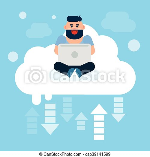 Man Sitting On Clouds Use Laptop Computer Cloud Technology Online Internet Data Flat Vector Illustration Canstock sittingonclouds_ کی ان کی instagram پروفائل پر 520 پوسٹیں ہیں۔ ان کی تمام تصاویر اور ویڈیوز دیکھنے کے لیے ان کا اکاؤنٹ فالو کریں۔ can stock photo