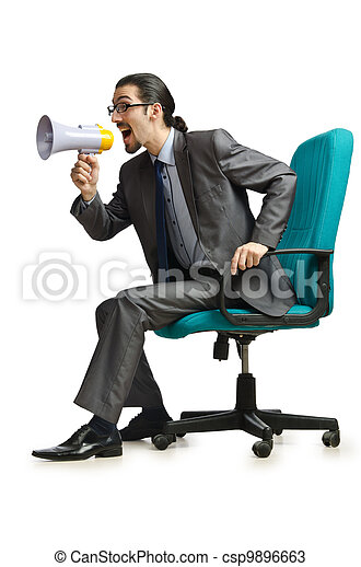 Man sitting on the chair - csp9896663