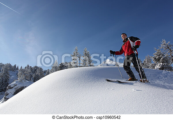 Man skiing - csp10960542