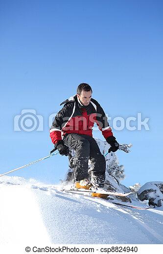 man skiing - csp8824940