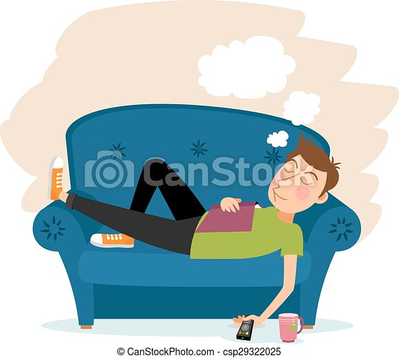 man sleep on sofa couch and male person adult relaxation rh canstockphoto com Animation of Person Sleeping in Bed person sleeping clipart