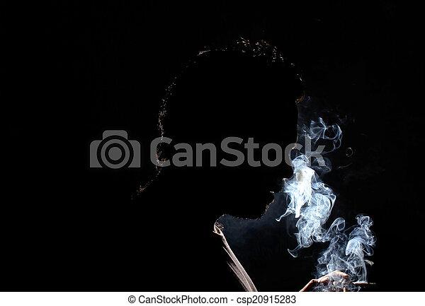 Man smoking  - csp20915283