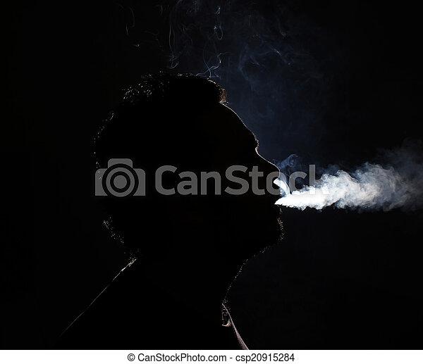 Man smoking  - csp20915284