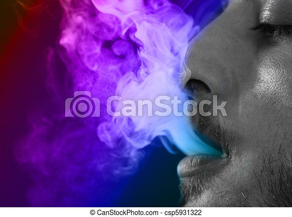 Man Smoking - csp5931322