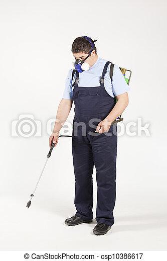 Man spraying - csp10386617