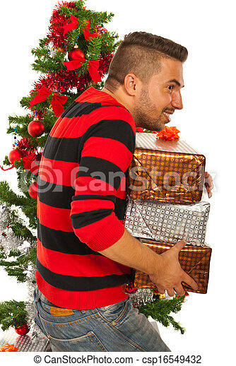 man stole christmas gifts csp16549432 - Stealing Christmas