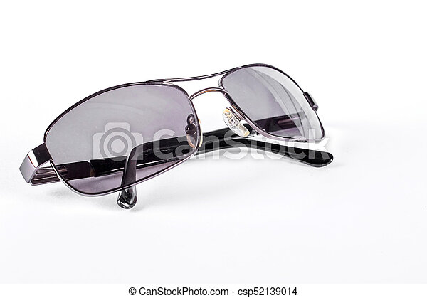 91553be7e2ca Man sunglasses with metal rim. male vintage sunglasses with dark glass and  metal frame, isolated on white background. men square sunglasses.