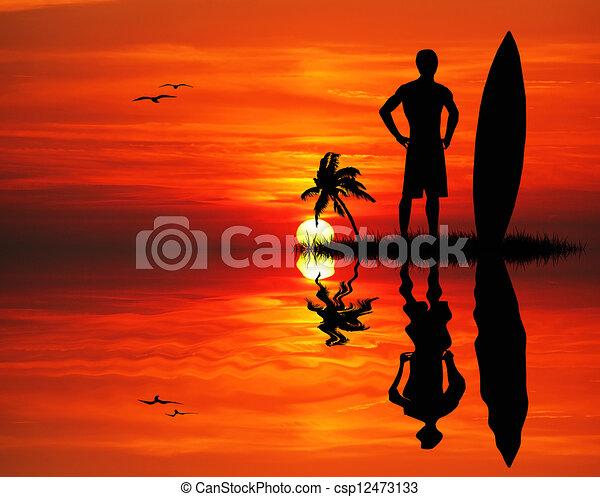 Man surfing - csp12473133