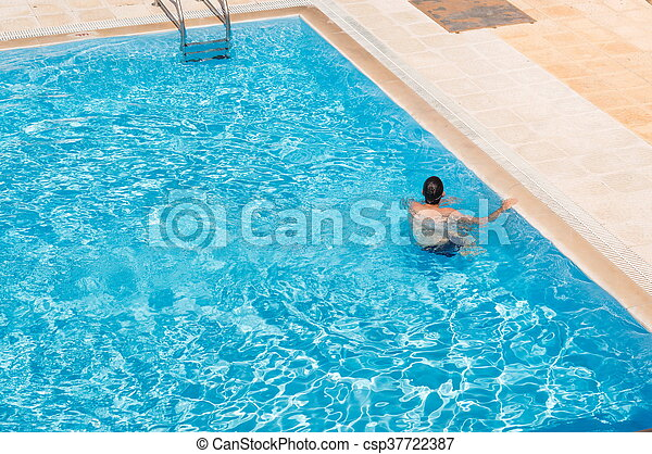 Alone in the pool