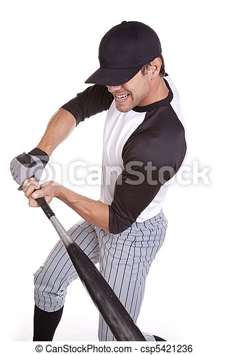 Man Swinging Bat
