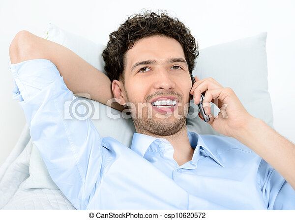 Man talking on mobile phone - csp10620572