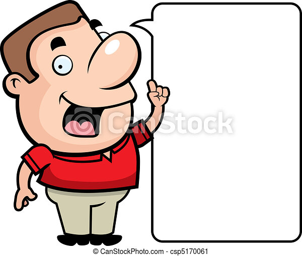a happy cartoon man talking and smiling vector clip art search rh canstockphoto com clipart walking dead clip art talking bible