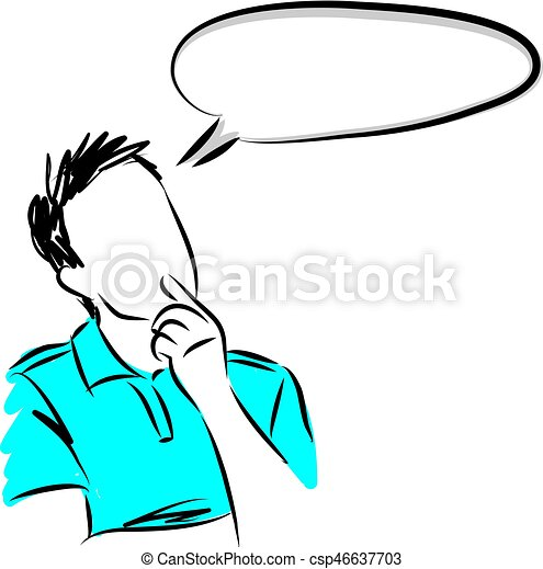 man thinking vector image illustration vector clipart search rh canstockphoto ca old man thinking clipart stick man thinking clipart
