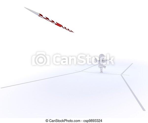 man throwing the javelin - csp9893324