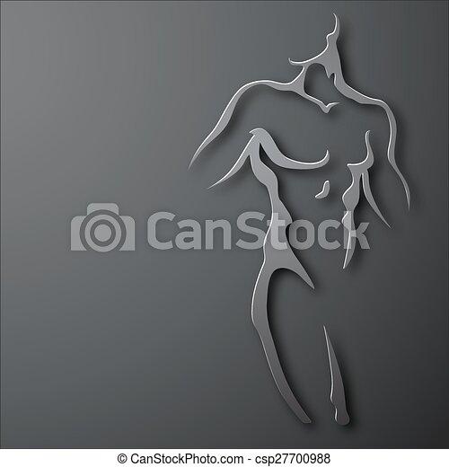 man, torso. - csp27700988