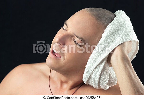 Close shaved head agree with