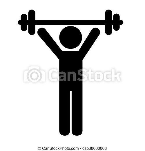 man training workout fit vector illustration icon clip art vector rh canstockphoto com workout clip art exercises workout clipart black and white