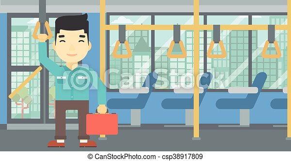 Man traveling by public transport. - csp38917809