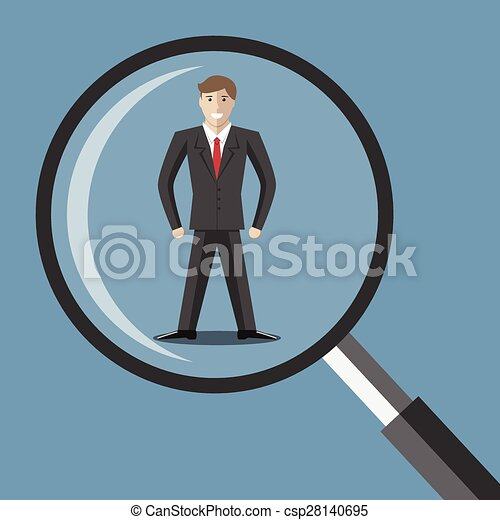 Man under magnifier - csp28140695