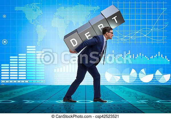 Man under the burden of loan - csp42523521