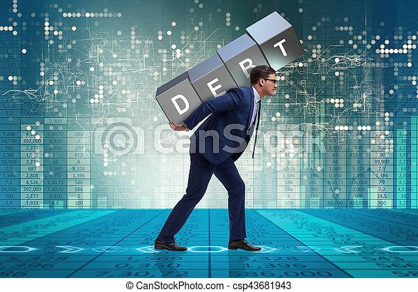Man under the burden of loan - csp43681943