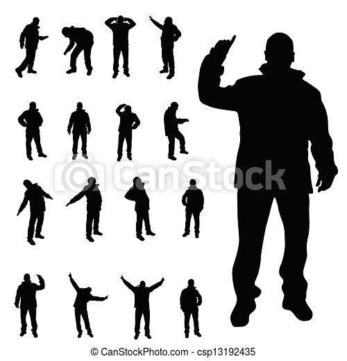 man vector silhouette illustration - csp13192435