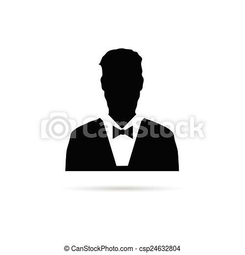 man vector silhouette - csp24632804