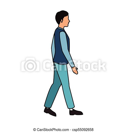 man walking cartoon vector illustration graphic design rh canstockphoto com cartoon person talking cartoon person walking a dog