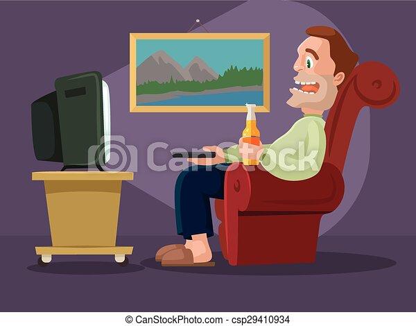 Man watching television - csp29410934