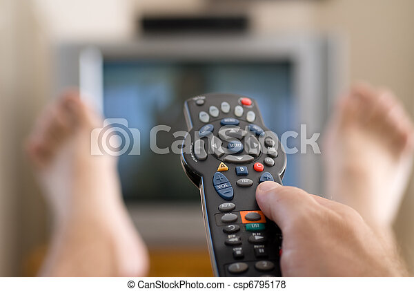 Man watching television - csp6795178