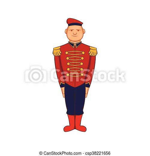 Man wearing army uniform 19th century icon - csp38221656