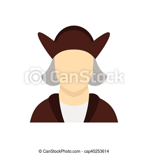 man wearing in christopher columbus costume icon icon in vector rh canstockphoto com christopher columbus clipart black and white christopher columbus clipart