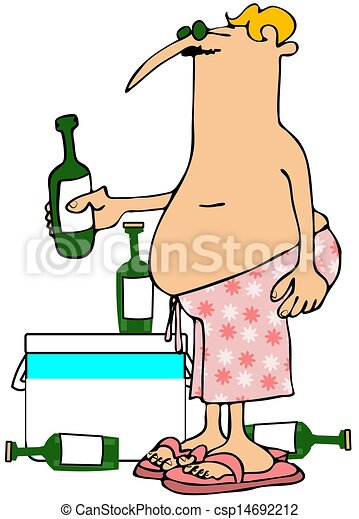 Man with a beer cooler - csp14692212