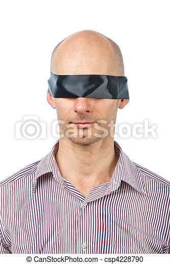c9d0f90b26b Man with a blindfold - csp4228790