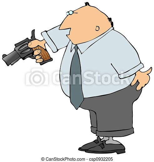 Man With A Gun - csp0932205