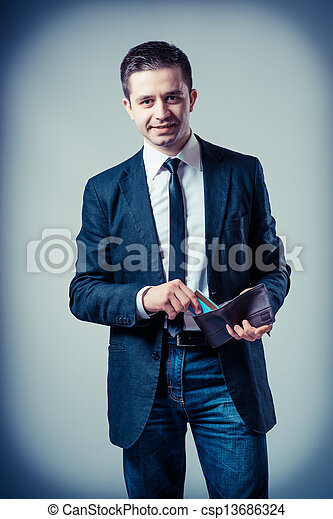 man with an empty wallet - csp13686324
