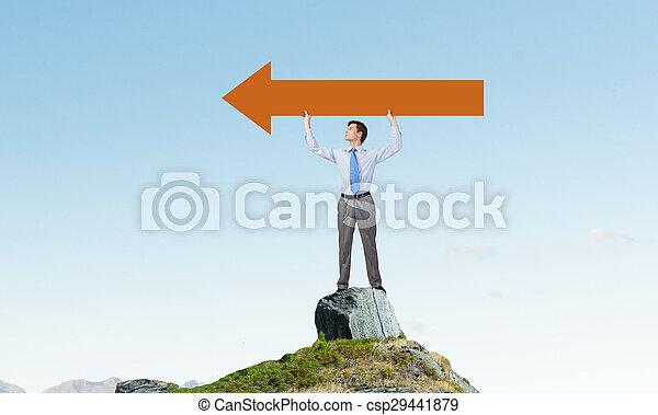Man with arrow in his hands - csp29441879
