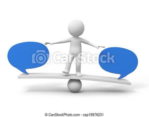 Man with balance board - csp19976231