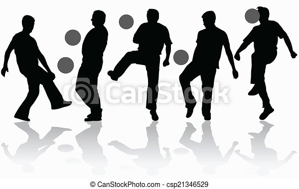 Man with ball silhouette - csp21346529