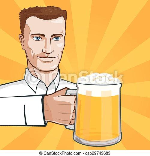 Man With Beer - csp29743683