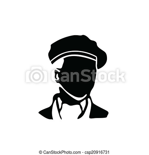 man with beret vector illustration  - csp20916731