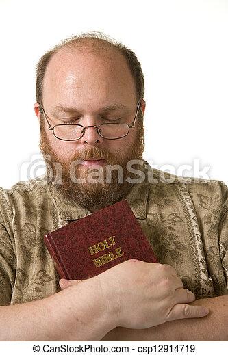 Man with bible - csp12914719