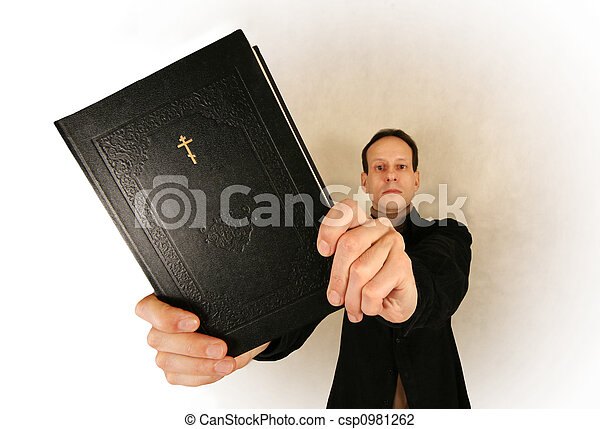 Man with bible - csp0981262