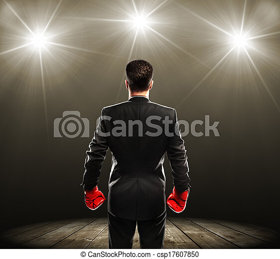 man with boxing gloves - csp17607850